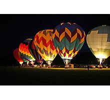 Light up the night!  Glowing the balloons! 605 views! Photographic Print
