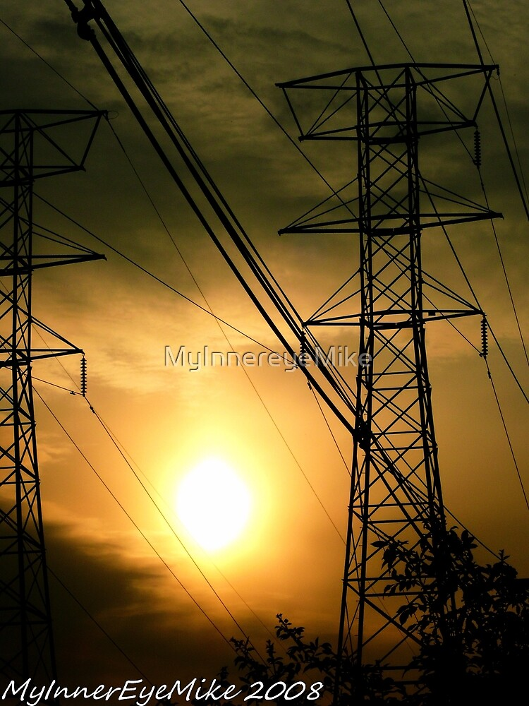 #362           Sunset With Powerlines by MyInnereyeMike