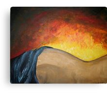 warming touch. Canvas Print