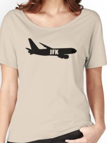 JFK airplane Women's Relaxed Fit T-Shirt
