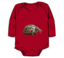 Portrait of a Young Wild Tortoise Isolated One Piece - Long Sleeve