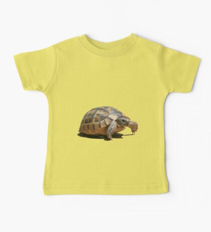 Portrait of a Young Wild Tortoise Isolated Baby Tee