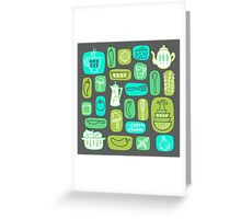 Pyrex Critters Greeting Card