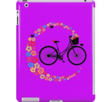 Cute Colourful Floral Love Cycling Vintage Retro Ladies Bike iPad Case/Skin