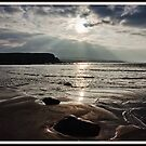 evening capture of my number 1 beach in county clare, lahinch  beach , lehinch, county clare, ireland. cliffs of moher in the very far distance. ireland. by Noel Moore Up The Banner Photography