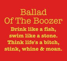 Ballad Of The Boozer - Yellow Lettering, Funny by Ron Marton