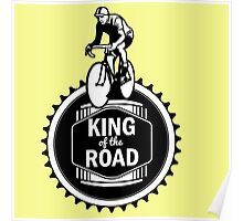 Retro Style Mens Racing Bike Road Touring Cycling Logo  Poster