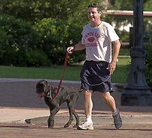 Walking the dog by Larry  Grayam