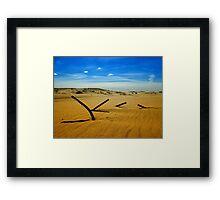 Metal shadows, Stockton Beach, NSW Australia Framed Print