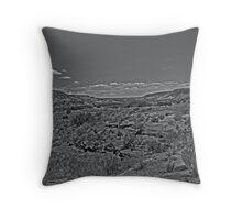 Palo Duro Canyon State Park BW Throw Pillow