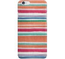 Vintage orange green texture stripes pattern iPhone Case/Skin