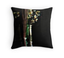 'Flowers in Vase I' Throw Pillow