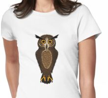Owl buy this design Womens Fitted T-Shirt