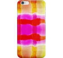 Summer Watercolor Abstract Stripe Pattern iPhone Case/Skin