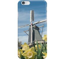 Dutch windmill and narcissus iPhone Case/Skin