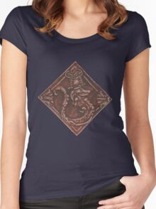 Sobek in Leather Women's Fitted Scoop T-Shirt