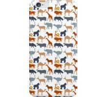 Vintage orange gray safari animal pattern iPhone Case/Skin