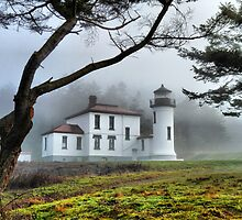 Lighthouse in the Fog Variation by Rick Lawler
