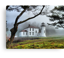 Lighthouse in the Fog Variation Canvas Print