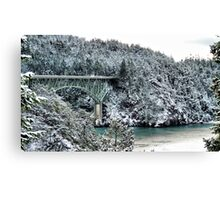Snowbridge Two Canvas Print