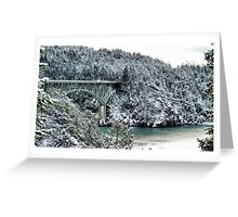 Snowbridge Two Greeting Card