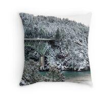 Snowbridge Two Throw Pillow
