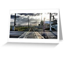 Rails to Paradise Greeting Card