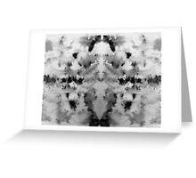 Monochrome brusho print Greeting Card