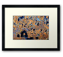Blue Movement Framed Print