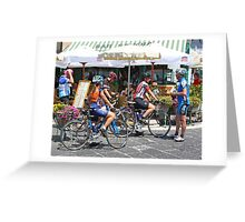 Amalfi Bike Riders Greeting Card