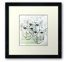 Drawn lines Framed Print