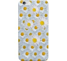 Cute vintage white yellow daisies floral pattern iPhone Case/Skin