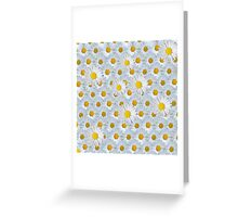 Cute vintage white yellow daisies floral pattern Greeting Card