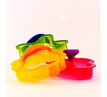 Colorful Cookie Cutters Photographic Print