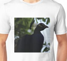 Perched Peacock in Shade Unisex T-Shirt