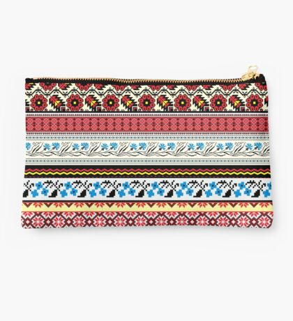 Floral Knitting Pattern Studio Pouch