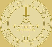 Bill Ciphers Circle of mystic Signs by TrollPeco