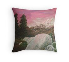 Mt. Baker Sunset Throw Pillow
