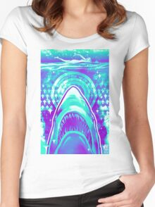 Jaws  Women's Fitted Scoop T-Shirt