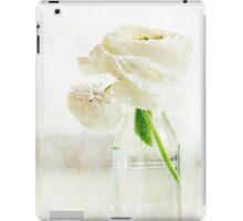 White Buttercup iPad Case/Skin