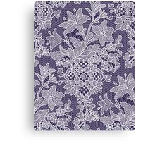 Lilies. Pattern. Lace. Canvas Print