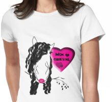 J'aime mon cheval Womens Fitted T-Shirt