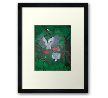 Playful Greys - African Grey Parrots Framed Print