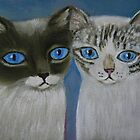 Siamese Mixes by sharonkfolkart