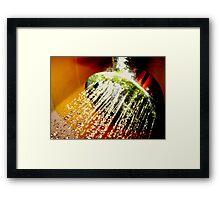 Colour In The Shower Framed Print