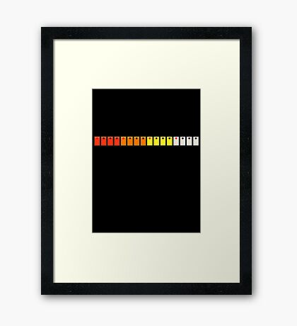 808 Drum Switches Framed Print