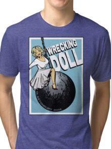 Wrecking Doll (blue) Tri-blend T-Shirt