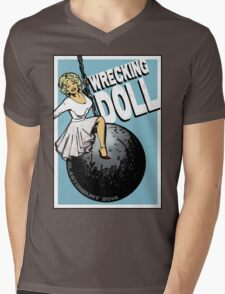 Wrecking Doll (blue) Mens V-Neck T-Shirt