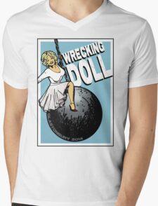 Wrecking Doll (blue) Mens V-Neck T-Shirt