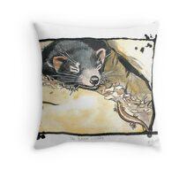 The brave lizard Throw Pillow